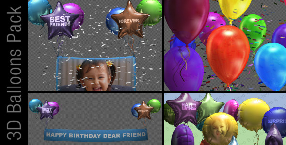 3d balloon pack