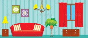 living clipart illustration graphicriver vector paper sitting doll cartoon background drawing wall furniture interior adobe illustrator dolls google livingroom sofa