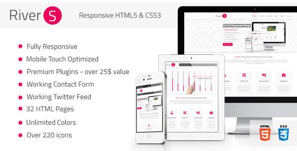 Rivers Responsive Premium Multipurpose HTML5 by FourGraFx