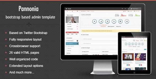 Pannonia - fully responsive admin template