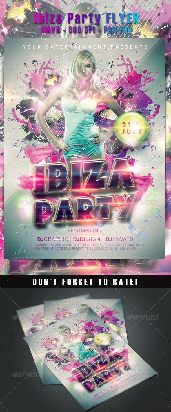 Ibiza Party Flyer