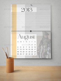 Wall Calendar Mockup Pack by milostudio
