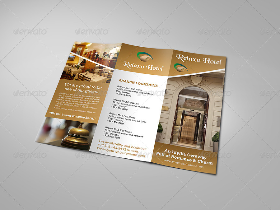 Hotel and Motel TriFold Brochure Template by OWPictures