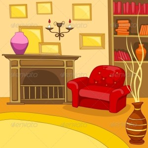 cartoon background living interior illustration vector eps drawn lamp graphicriver backgrounds clipart retro supermarket cat drawing clip colourful armchair hand