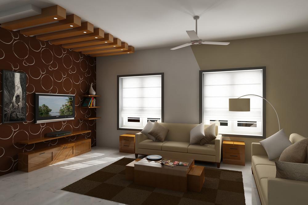Realistic Living Room Model Rendered In Vray By Barunpatro