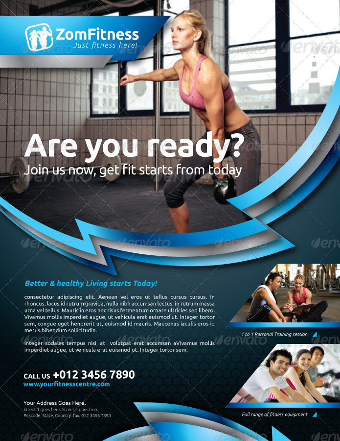Fitness Flyer Vol 6 By Kitcreativestudio GraphicRiver