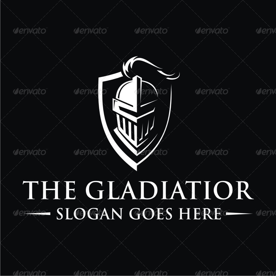 The Gladiator Logo by vector_factory  GraphicRiver