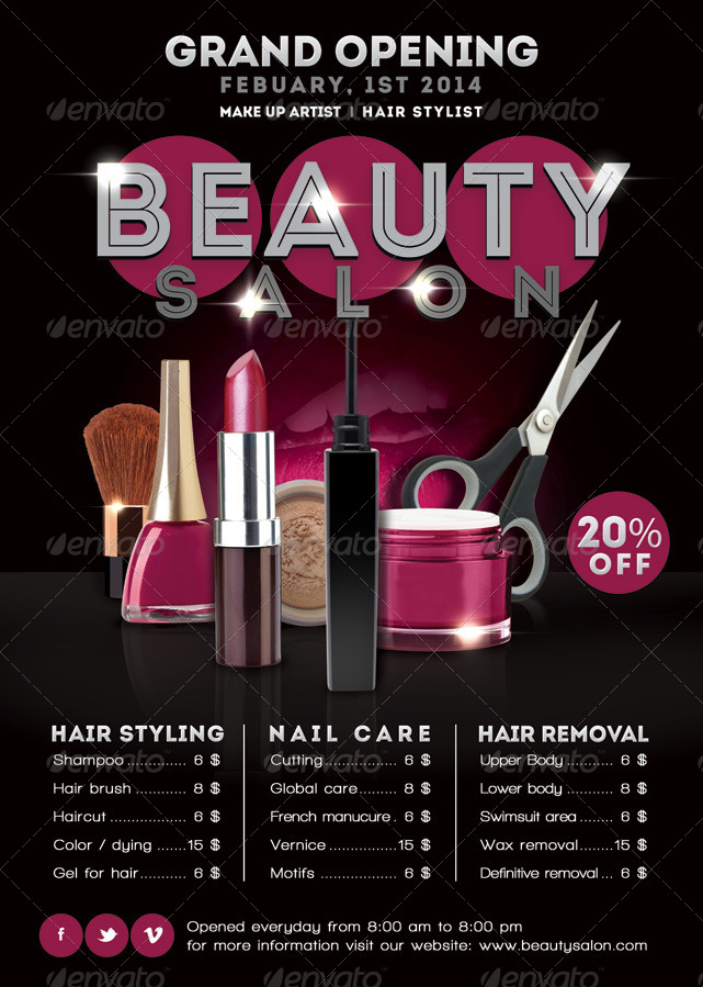 Flyer Beauty Salon Opening Promoting By N2n44 GraphicRiver