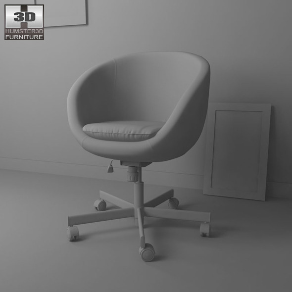skruvsta swivel chair hanging overstock ikea 3d model by humster3d 3docean