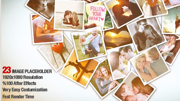 Heart Photo Collage Video Animation