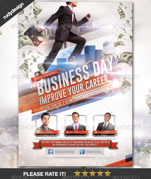 Business Career Day Template Design By Rudydesign