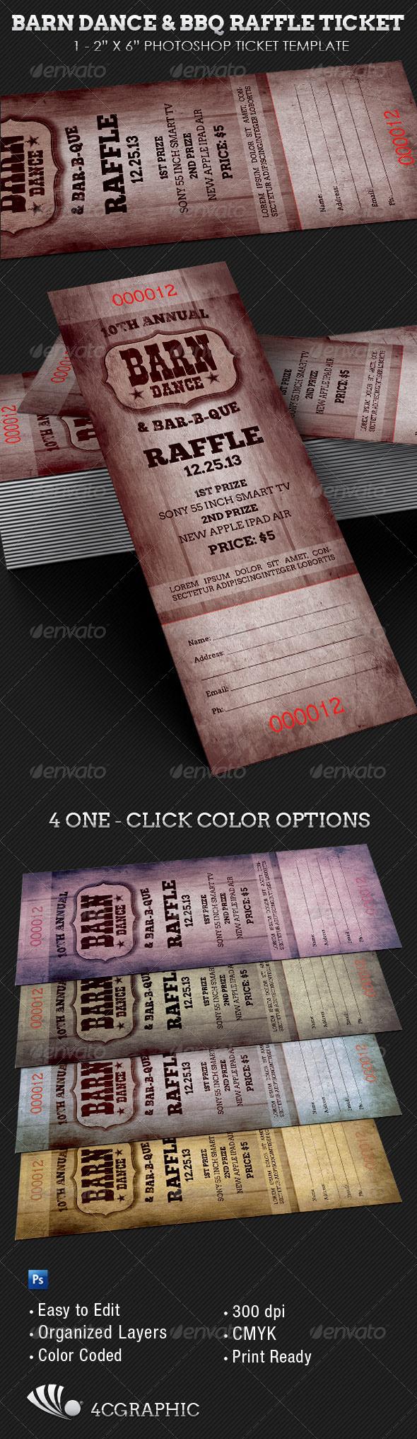 dance ticket template