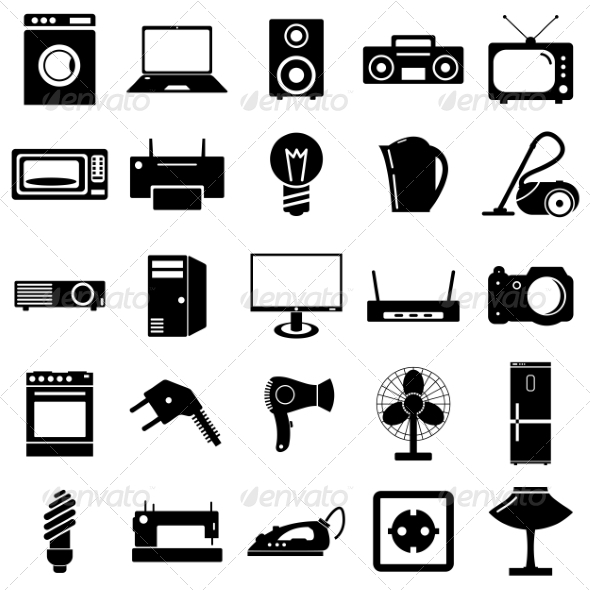 Collection of Electrical Device Symbols by aarrows