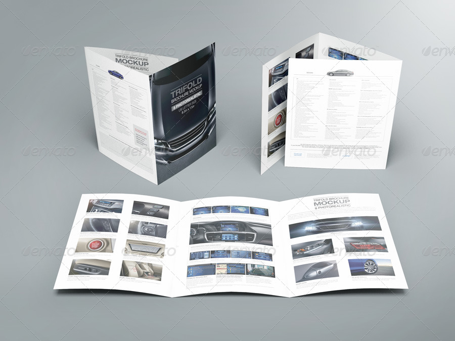 Trifold Brochure Mock Up 02 By Kenoric GraphicRiver