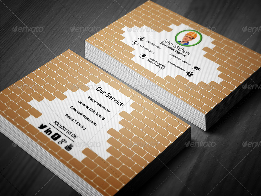 Civil Engineer Business Card 1 by ethanfx  GraphicRiver