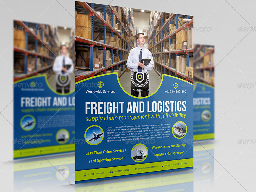 Freight and Logistic Services Flyer Template Vol4 by