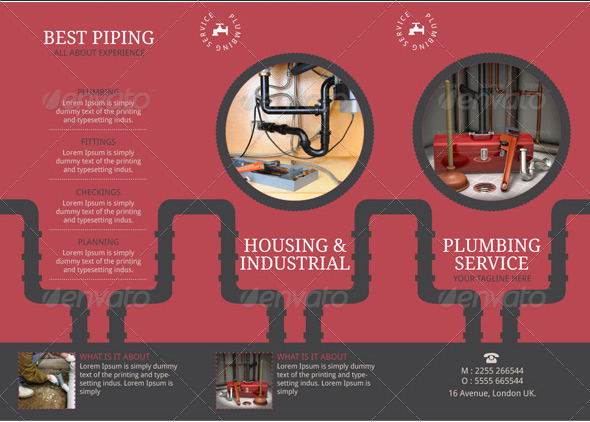 Plumbing Brochure Template By BloganKids GraphicRiver