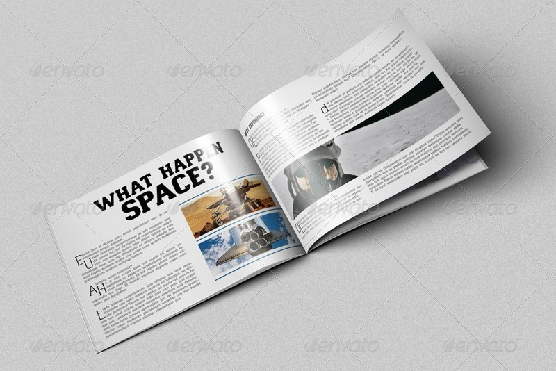 A4 Horizontal Brochure Mockups By Kongkow GraphicRiver