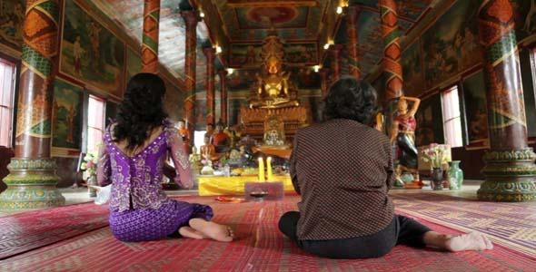 Asian Girl Praying In Temple Cambodia 6 By Eldelik