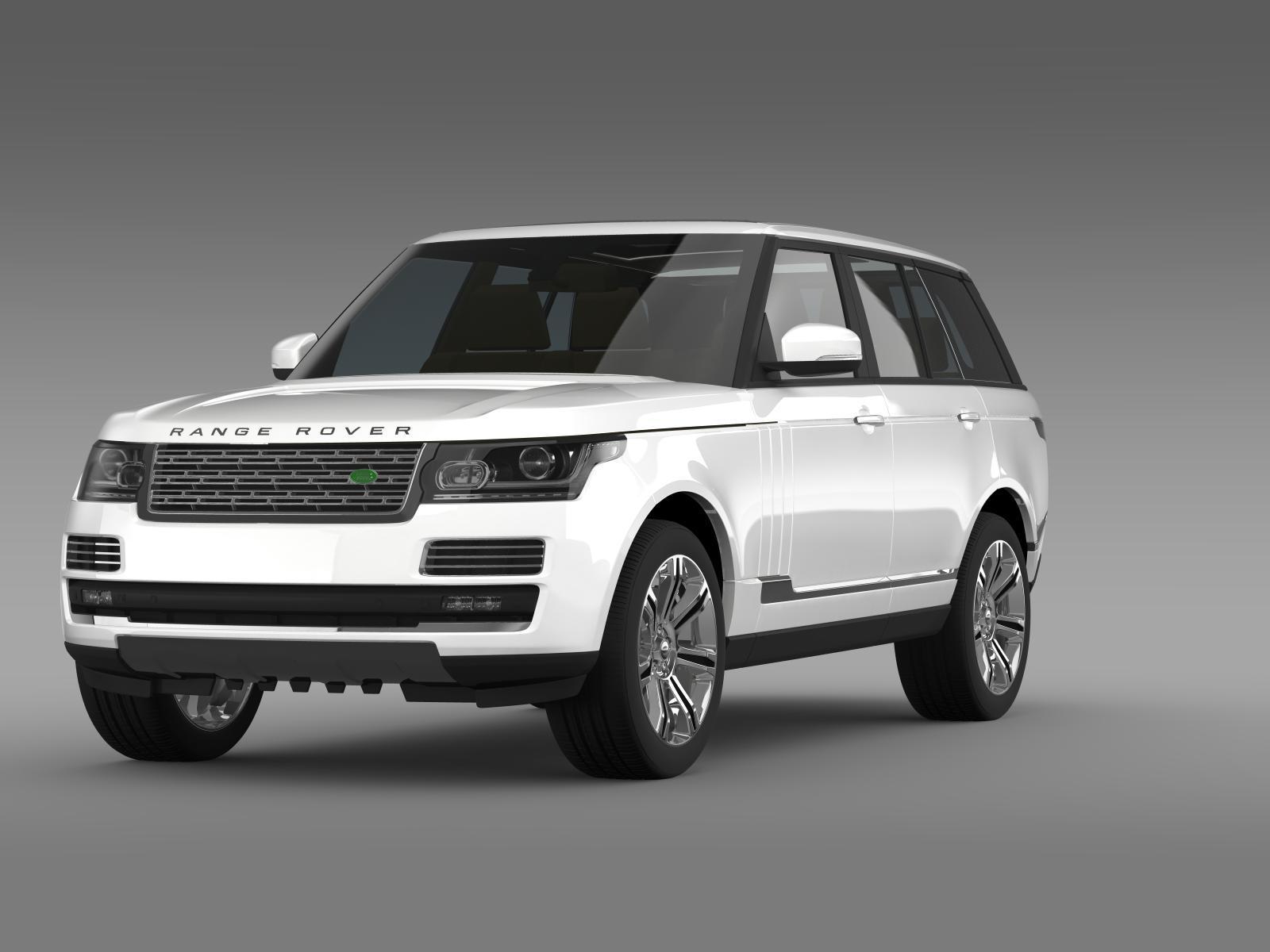 Range Rover Autobiography Black L405 2014 by creator 3d