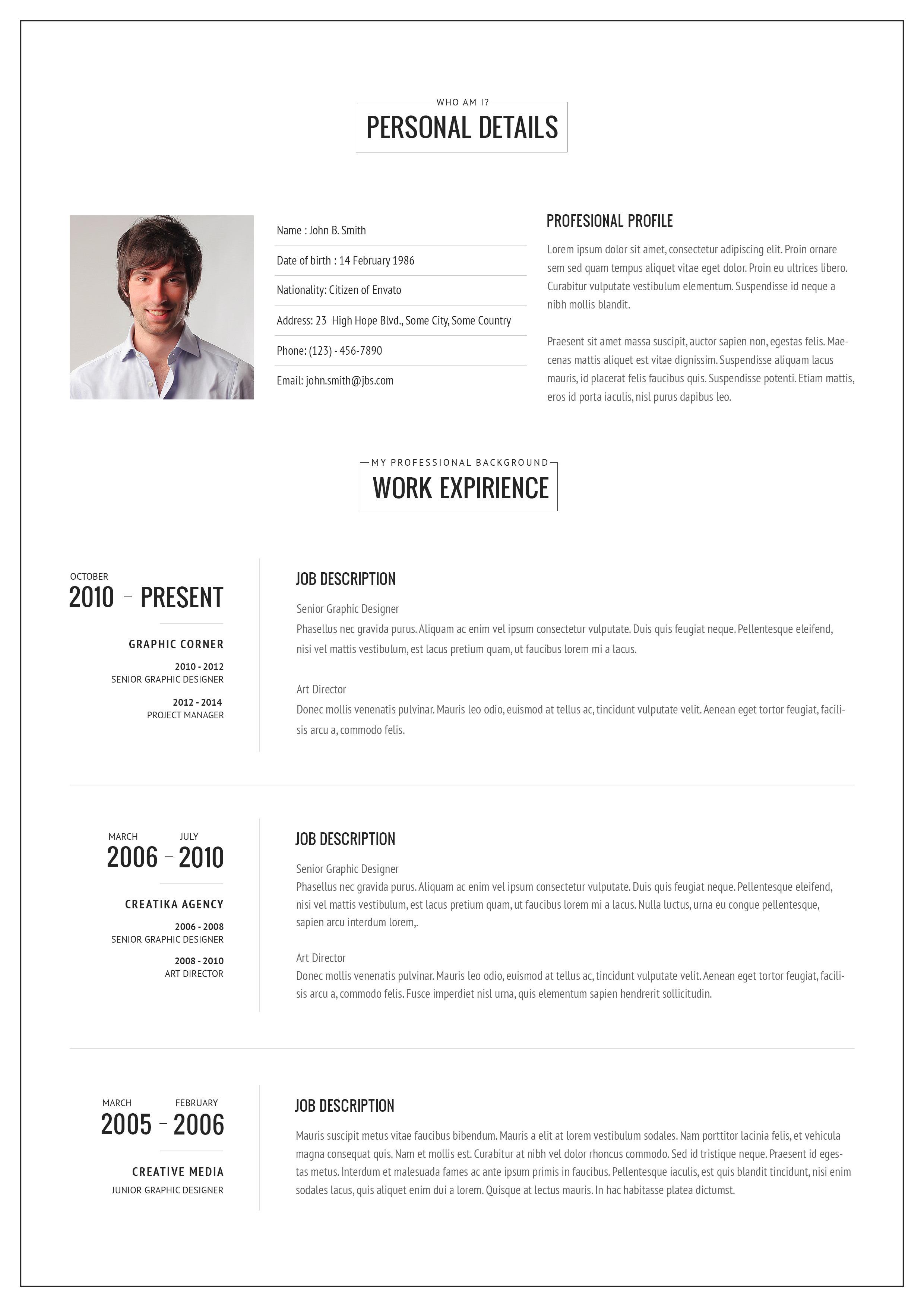 VERSUS Resume Responsive CV Template Bonuses By Bitpub