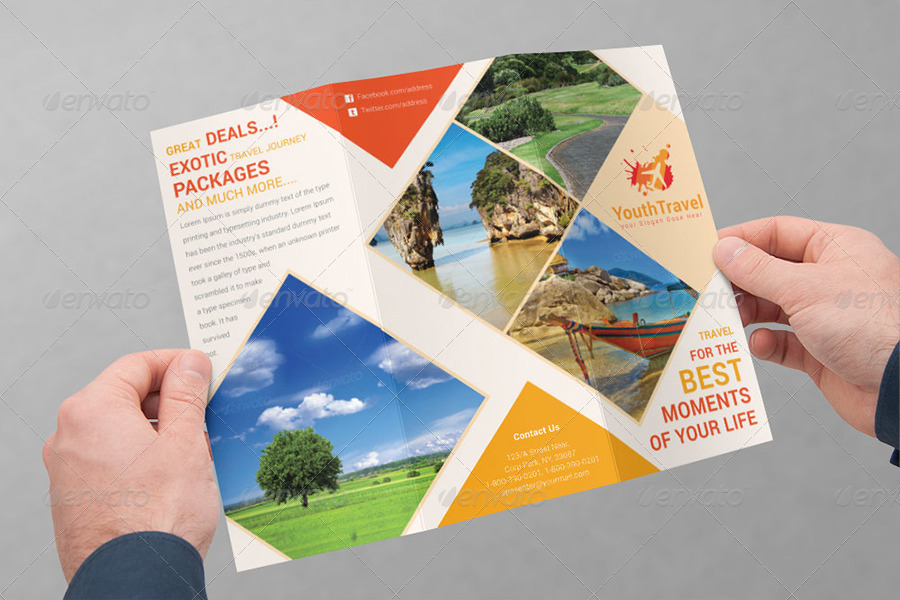 Travel Tourism Tri Fold Brochure Bundle V1 By Dotnpix