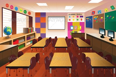 Empty Classroom for Elementary School by artisticco GraphicRiver