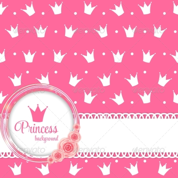 Princess Crown Background Vector Illustration by yganko