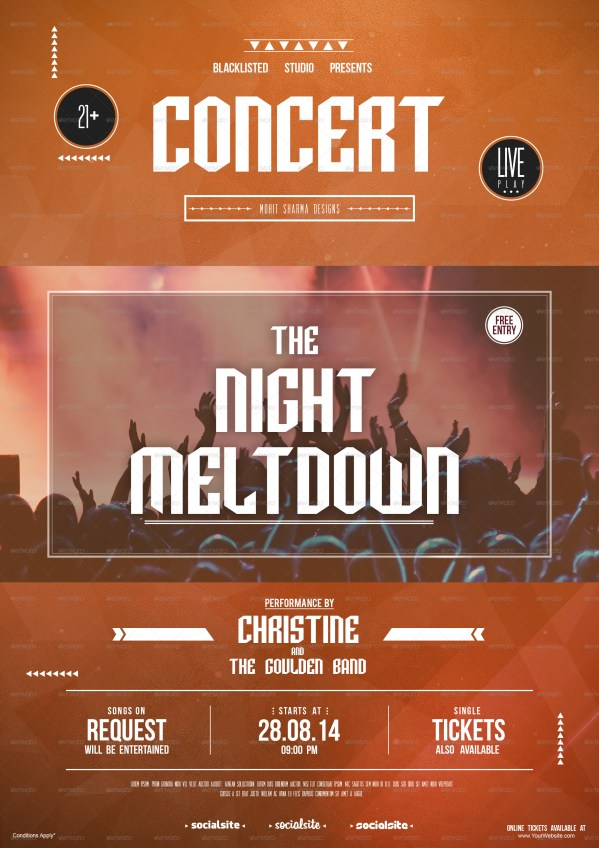 Concert Flyer Blacklistedstudio Graphicriver