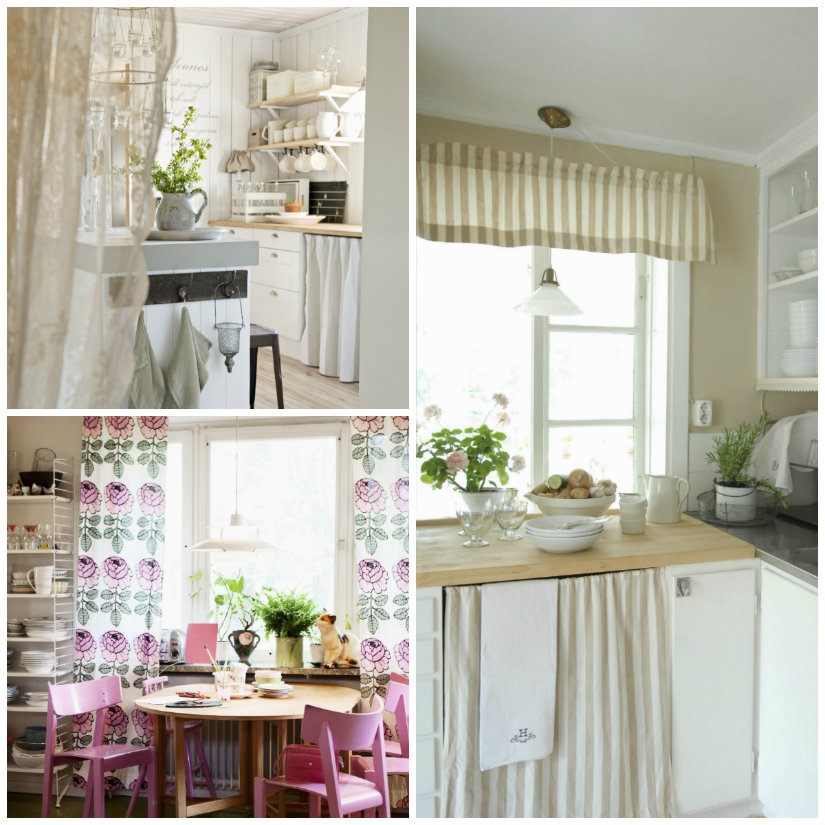 DALANI  Tende per cucina con mantovana eleganza in casa