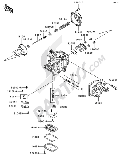 Kawasaki JET SKI 900 STX 2004 Dissassembly sheet. Purchase