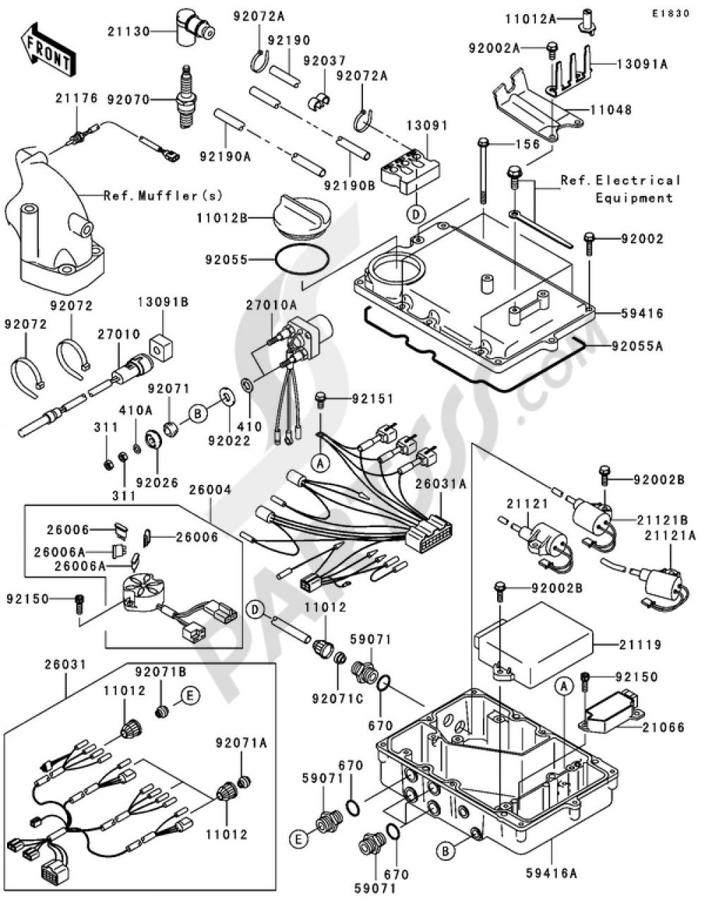 Ignition System(1/2) Kawasaki JET SKI 900 STX 2004