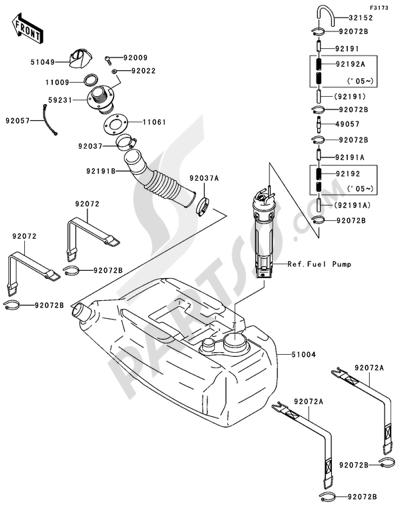 Kawasaki JET SKI STX-15F 2004. 分解図 純正部品をオンライン購入