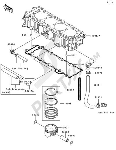 Kawasaki JET SKI STX-15F 2006. 分解図 純正部品をオンライン購入
