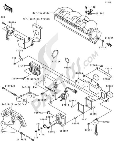 Kawasaki JET SKI STX-15F 2012 Dissassembly sheet. Purchase