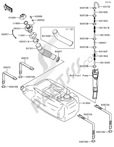 Kawasaki JET SKI STX-15F 2012 Dissassembly sheet. Purchase