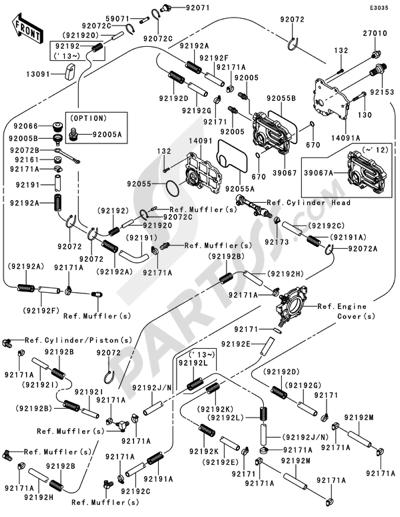Kawasaki JET SKI STX-15F 2014. 分解図 純正部品をオンライン購入