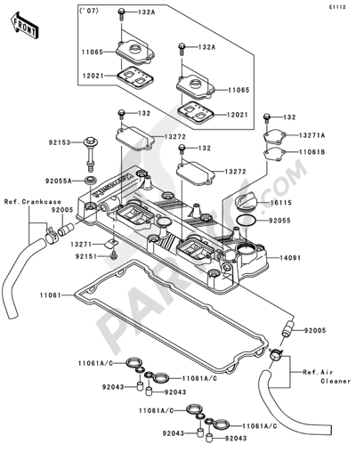 Kawasaki JET SKI ULTRA 250X 2007. 分解図 純正部品をオンライン購入