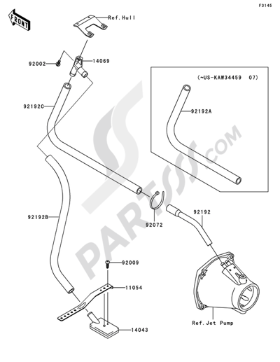 Kawasaki JET SKI ULTRA 250X 2008 Dissassembly sheet