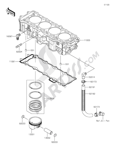 Kawasaki JET SKI ULTRA 310LX 2014. 分解図 純正部品をオンライン購入