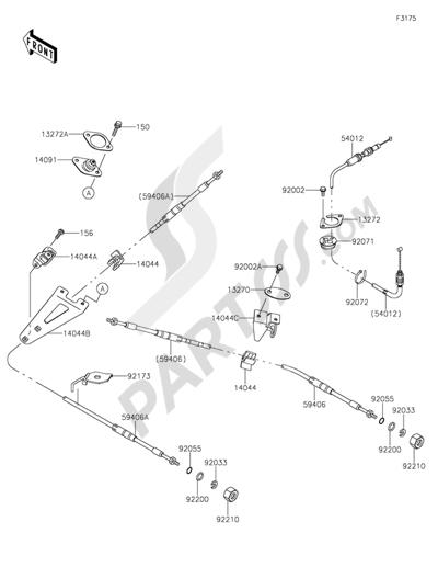 Kawasaki JET SKI ULTRA 310LX 2015. 分解図 純正部品をオンライン購入