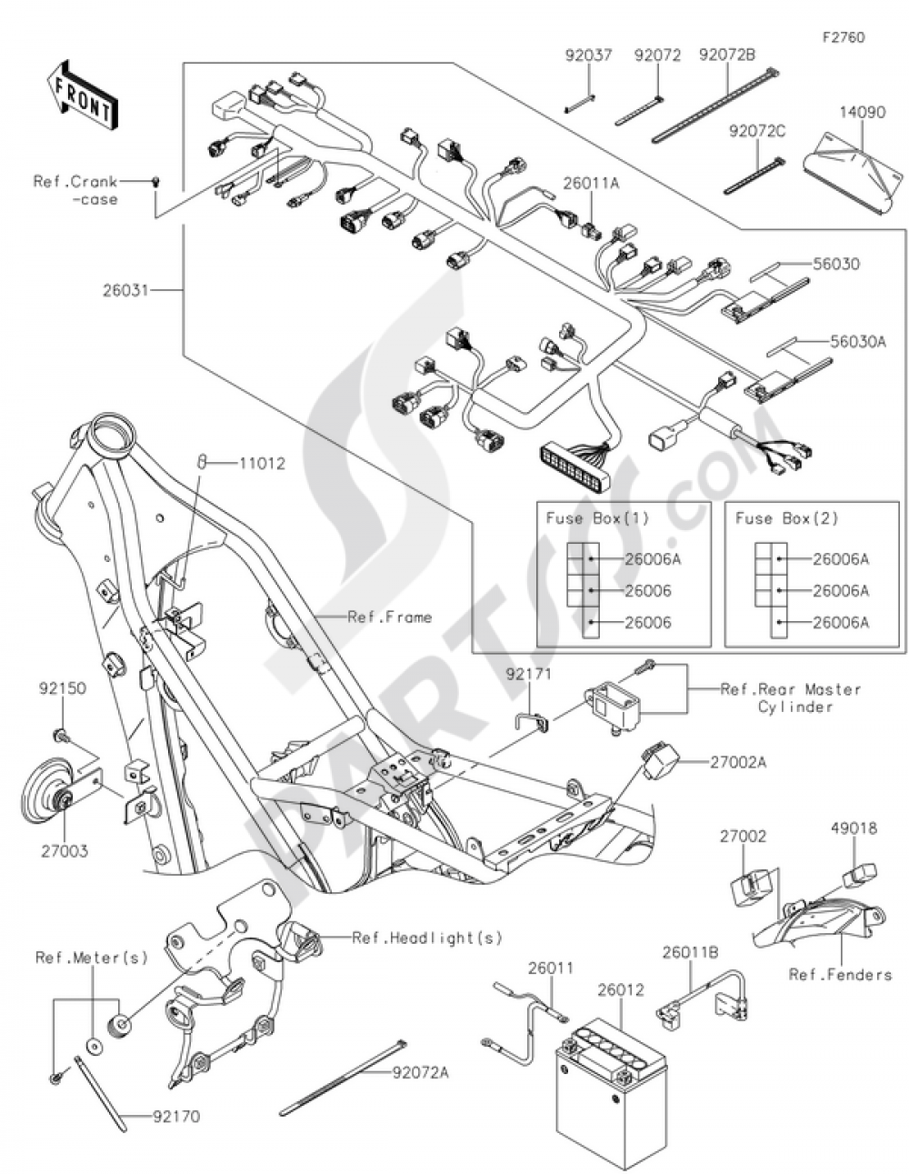 Chassis Electrical Equipment Kawasaki KLX250 2015