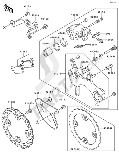 Kawasaki KX450F 2011 Dissassembly sheet. Purchase genuine