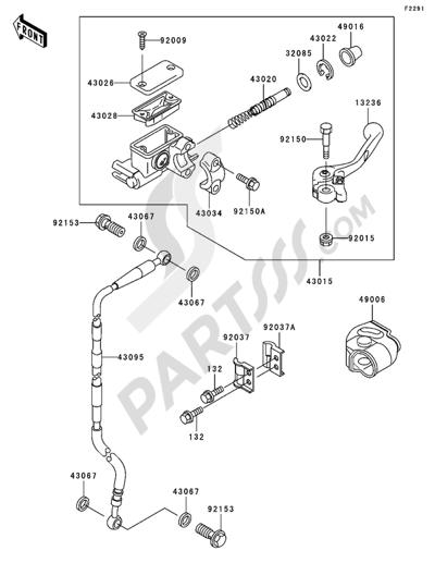 Kawasaki KX65 2005. 分解図 純正部品をオンライン購入