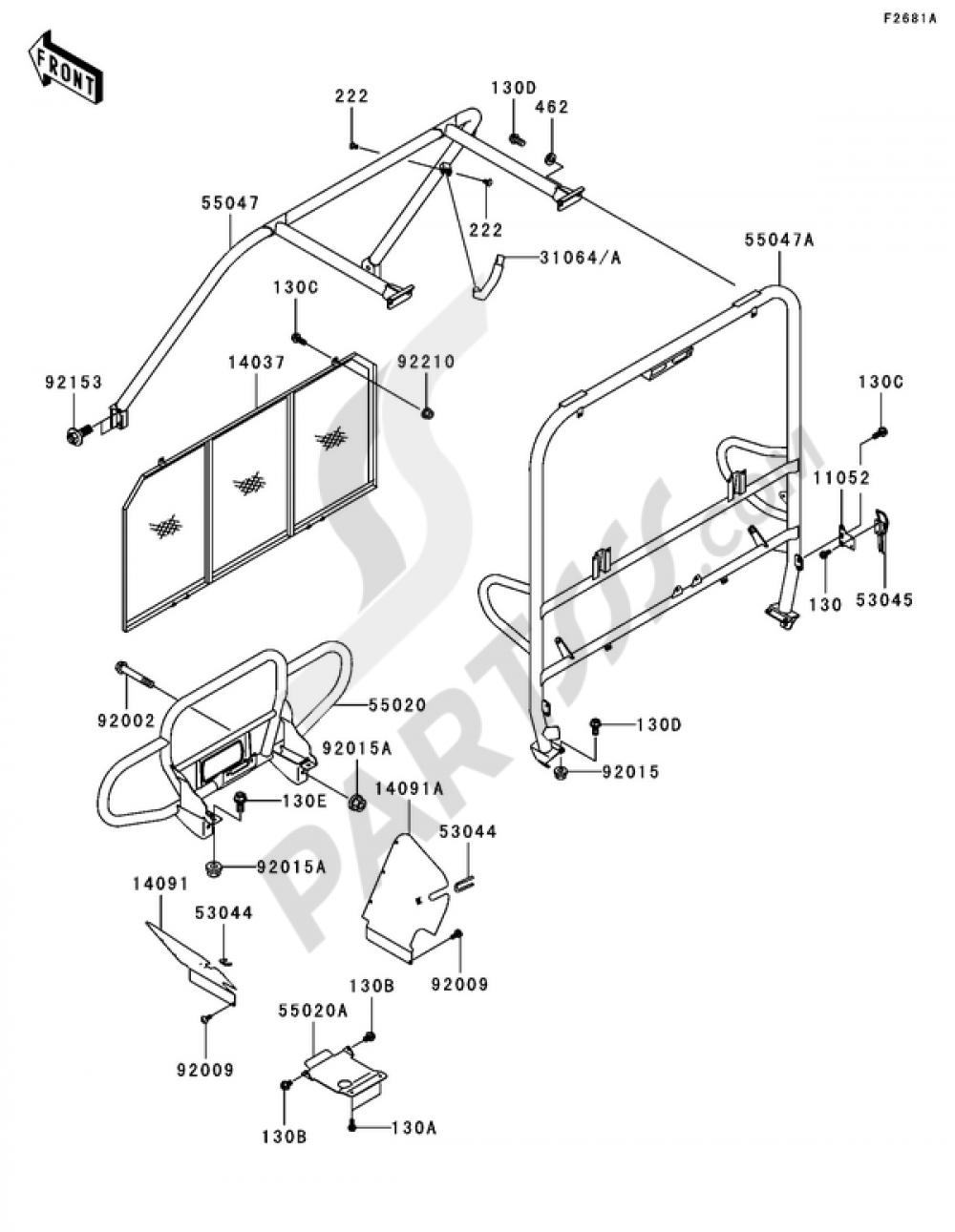 medium resolution of kawasaki mule 3000 part diagram