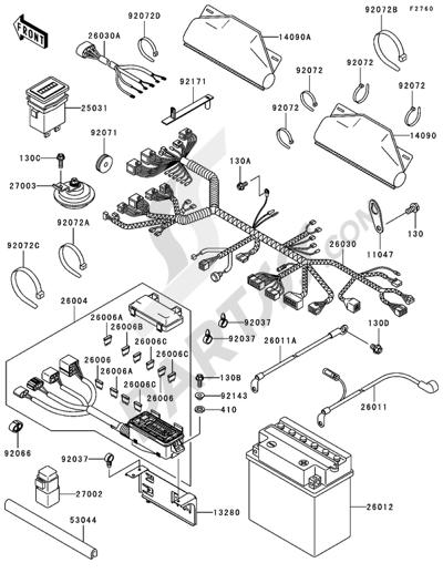 Kawasaki MULE 3010 4X4 2004 Dissassembly sheet. Purchase