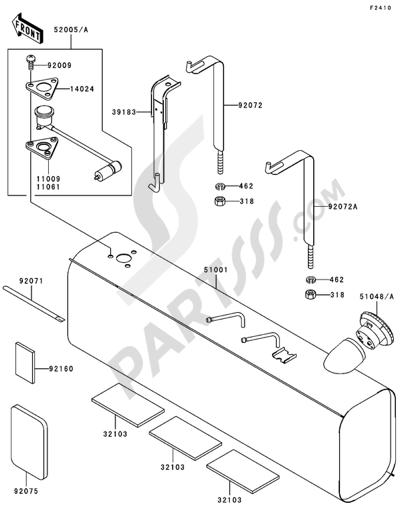 Kawasaki MULE 3010 DIESEL 4X4 2004 Dissassembly sheet