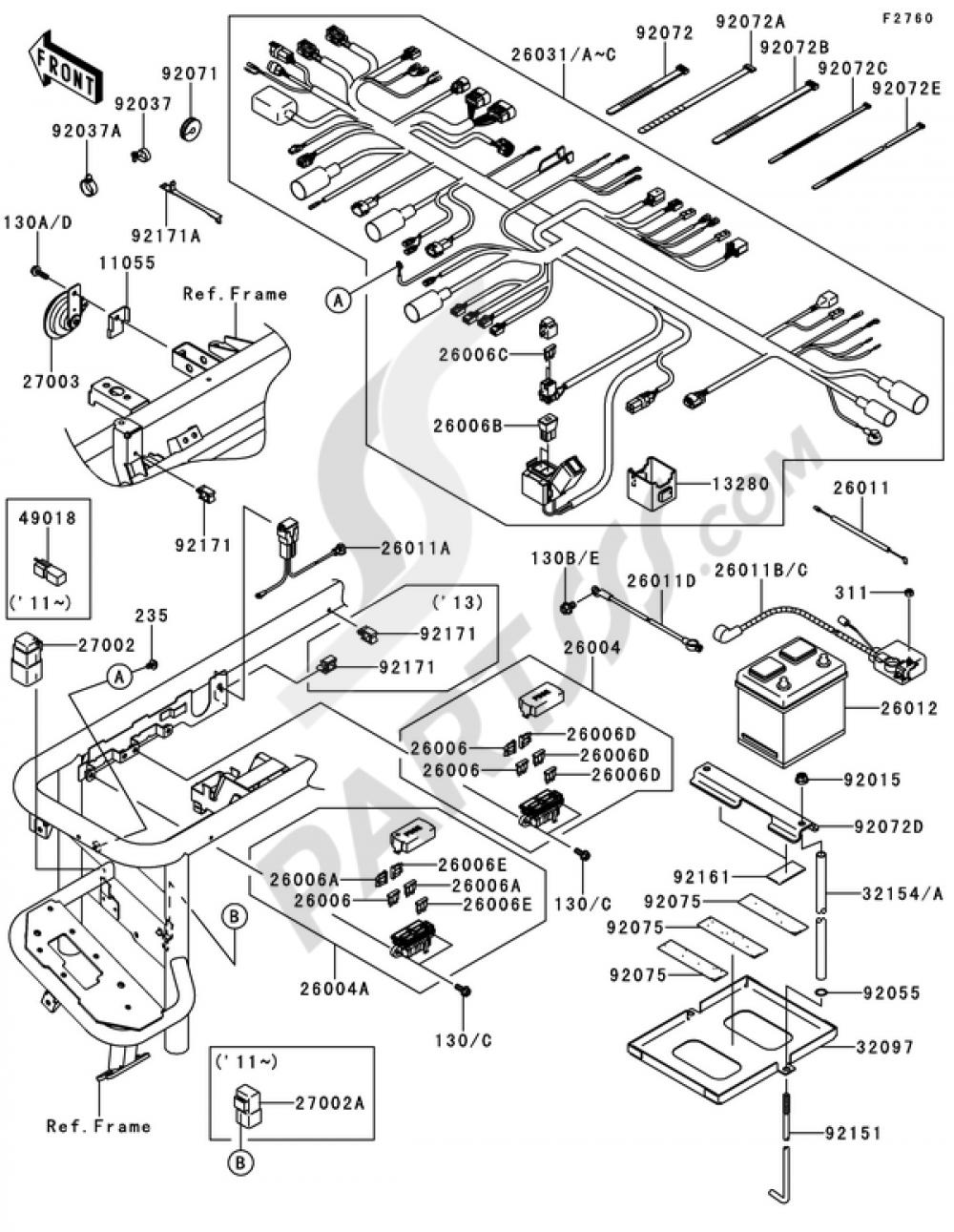 Kawasaki Mule 4010 Wiring Diagram : Fuel Evaporation