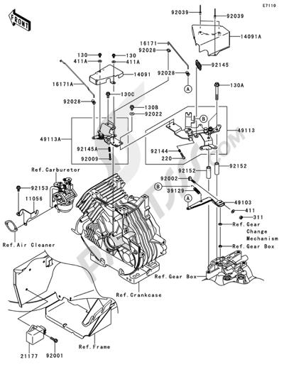Moteur de recherche des pièces de rechange Kawasaki
