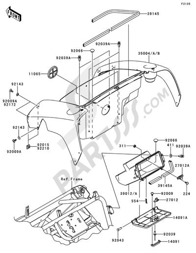 Kawasaki MULE 610 4X4 2013 Dissassembly sheet. Purchase